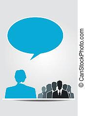 發言者, 討論會