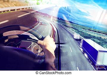 發貨, 摘要, 高速公路, 國際, 設計