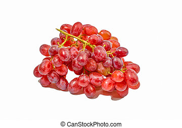 白いブドウ, 隔離された, 赤