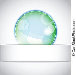 白いボール, マジック, 隔離された, 背景