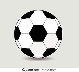 白いボール, 背景, サッカー