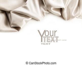 白い朱子織, 生地, 贅沢