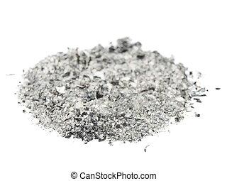 白い灰, 隔離された, 背景