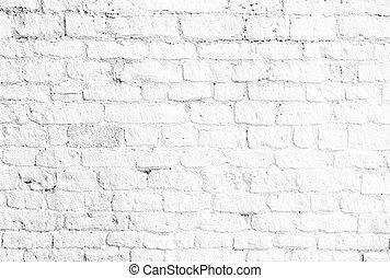 白い煉瓦, 壁, 背景