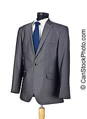 白い男性, 隔離された, スーツ