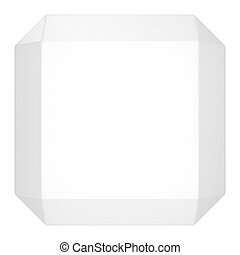 白い立方体