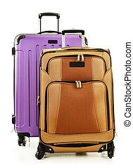 白い背景, 隔離された, 2, スーツケース