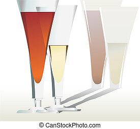 白い赤, ワイン