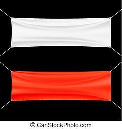 白い赤, banner.