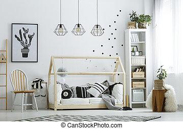 白い部屋, 家具