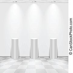 白い部屋, 立つ