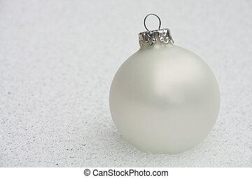 白い クリスマス, 安っぽい飾り, 上に, ∥, 凍らせられた, 地面