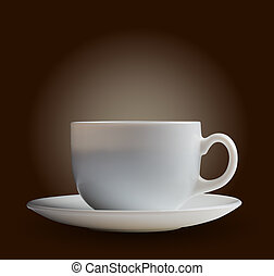 白コーヒー, カップ