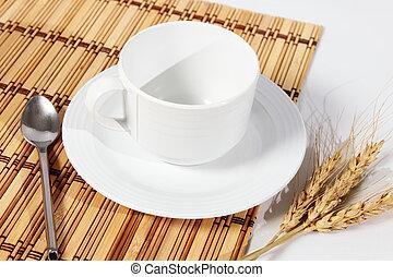 白コーヒー, 隔離された, カップ