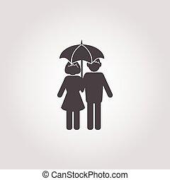 白人の洋傘, 背景, アイコン