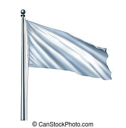 白旗, 隔離された