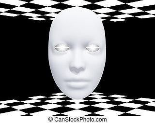 白熱, マスク, 目