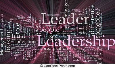 白熱, リーダーシップ, 単語, 雲