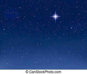 白熱, 夕方, 星