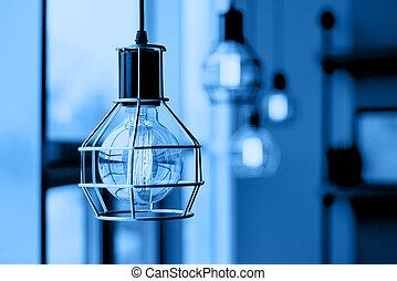 白熱, 屋根裏, ライト, style., 電球