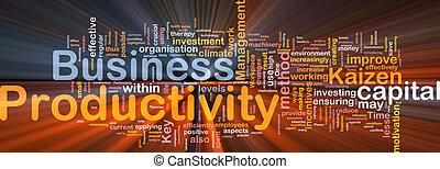 白熱, 概念, 生産性, ビジネス, 背景