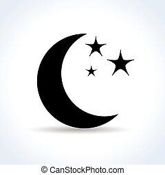 白的月亮, 背景, 图标