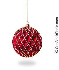 白的球, 圣诞节, 背景, 红