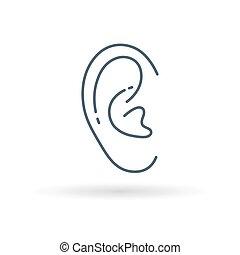 白的背景, 耳朵, 图标