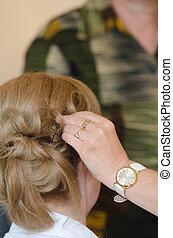 白膚金髮, 新娘, 發型