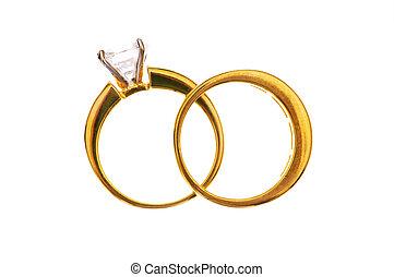 白色的婚禮, 戒指, 被隔离, 二