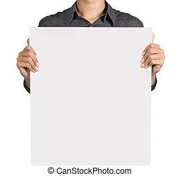 白色, 人, 板, 藏品, 空白