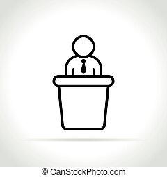 白色, 会议, 背景, 图标
