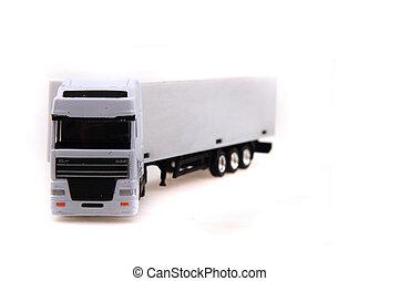 白色, 卡車, 被隔离