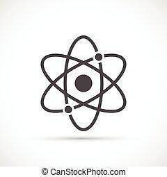 白色, 原子, 背景, 图标
