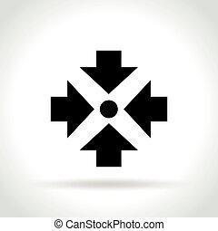 白色, 图标, 会议, 背景, 点