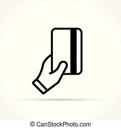 白色, 图标, 卡片, 背景, 手