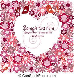 白色, 心, 針對, 花, 由于, bi