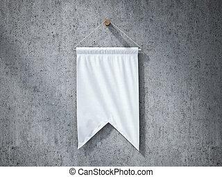 白色, 懸挂, 細長三角旗