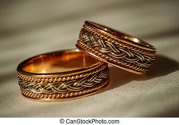 白色, 戒指, 被隔离, 婚禮