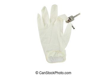 白色, 手套, 手