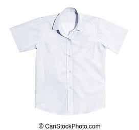 白色, 打掃, shirt.