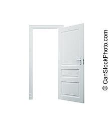 白色, 打開門