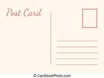 白色, 插圖, 矢量, 背景。, 卡片, 郵政, 被隔离