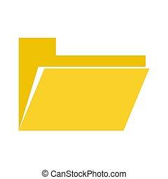 白色, 文件夹, 背景, 文件, 黄色, vector., 图标