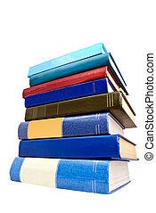 白色, 書, 堆, 被隔离