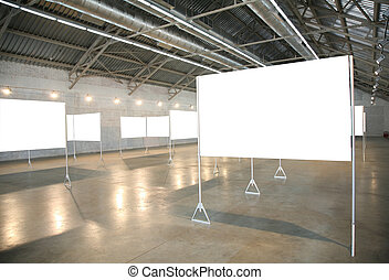 白色, 框架, 在, 大廳, 2