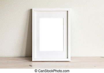白色, 框架, 垂直, mockup