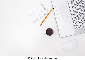 白色, 模仿, 書桌, 空間
