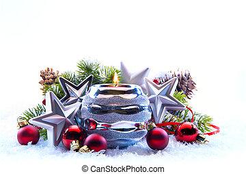 白色, 樹, 裝飾, 背景, 聖誕節