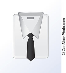 白色, 正式, 剝去, shirt., 圖象
